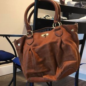 J.Crew tan leather bag